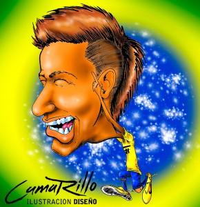 """""""Neymar"""" por Cesar Omar Carrillo."""