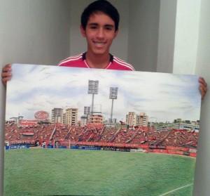 Oscar Olivares, artista venezolano.