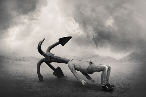 """Anchored"", Photomontage, 40 x 60 cm. Año 2012."